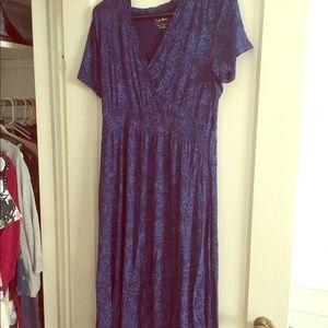 LL Bean Jersey Dress w/short sleeves